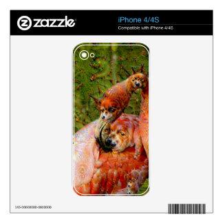 Dream Creatures, Flamingo, DeepDream iPhone 4S Skin