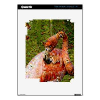 Dream Creatures, Flamingo, DeepDream Skin For iPad 3