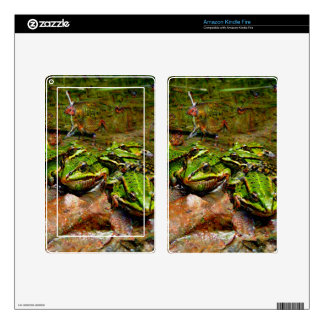 Dream Creatures, Frog, DeepDream Decal For Kindle Fire