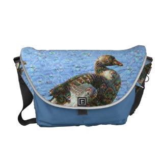 Dream Creatures, Goose, DeepDream Messenger Bag