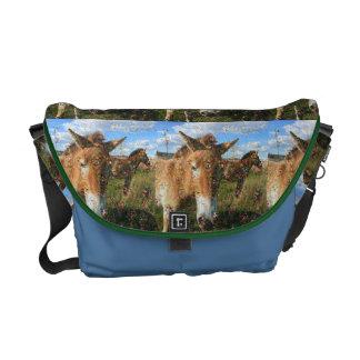 Dream Creatures, Przewalski's horses_DeepDream Courier Bag