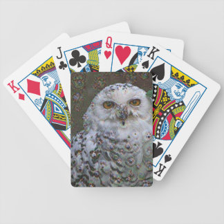 Dream Creatures, Snowy Owl, DeepDream Bicycle Playing Cards