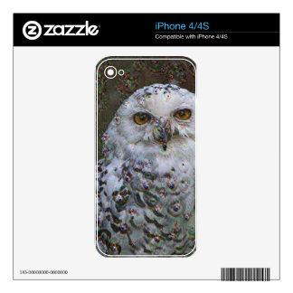Dream Creatures, Snowy Owl, DeepDream iPhone 4S Decals