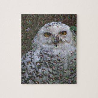Dream Creatures, Snowy Owl, DeepDream Jigsaw Puzzle
