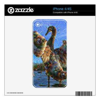 Dream Creatures, Swan, DeepDream Decal For iPhone 4