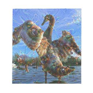 Dream Creatures, Swan, DeepDream Notepad