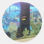 Dream~ de la aguamarina etiqueta redonda