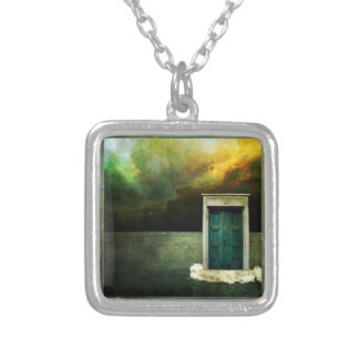 Dream Door Charm Silver Plated Necklace