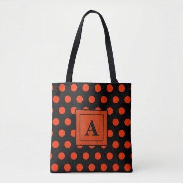 Beach Themed Dream Dot Pumpkin Tote Bag