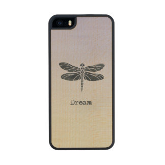 Dream Dragonfly Wood Phone Case For iPhone SE/5/5s