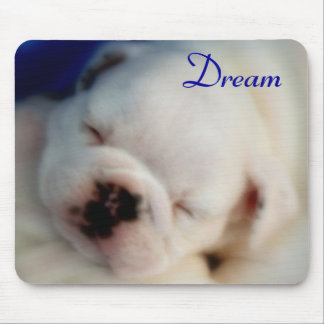 """Dream"" English Bull Dog Puppy Mouse Pad"