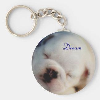 Dream English Bulldog Puppy Keychain