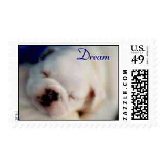 Dream English Bulldog Puppy Postage Stamps
