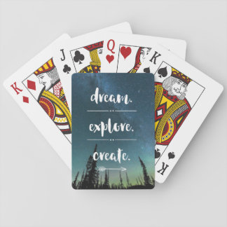 Dream. Explore. Create. Playing Cards