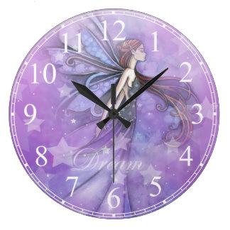 Dream Fairy in the Stars Wall Clock