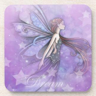 Dream Fairy in the Stars Drink Coaster