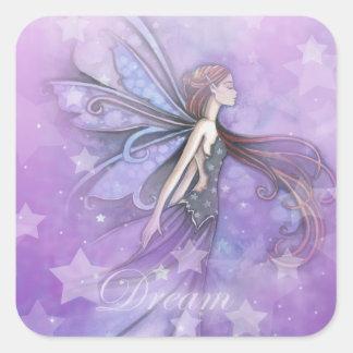 Dream Fairy in the Stars Square Sticker