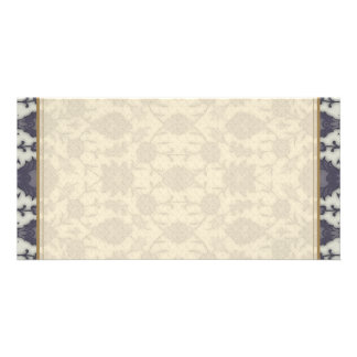 Dream Floral in Cream and Gray Picture Card