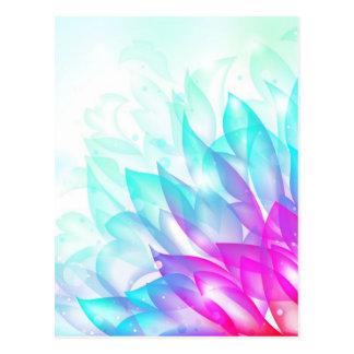 Dream-Flower-Vector FANTASY BLUES PINKS WHITE DREA Postcard