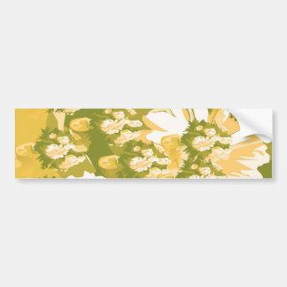 Dream Flowers and Magic Patterns Bumper Sticker