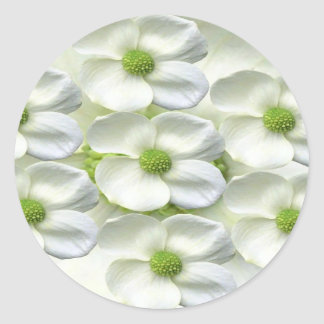 Dream Flowers and Magic Patterns Classic Round Sticker