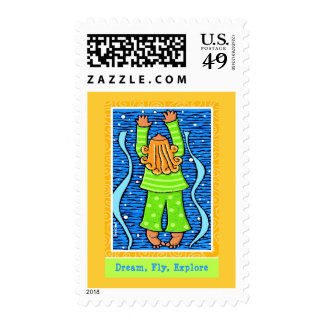Dream, Fly, Explore Postage Stamps