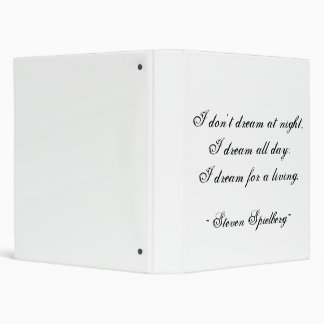 Dream for a Living 3 Ring Binder