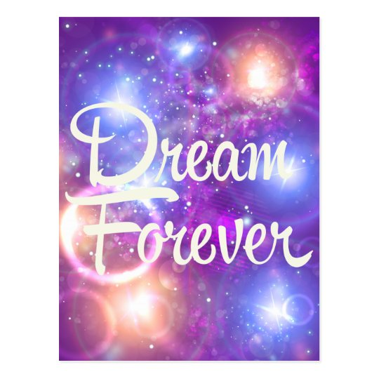 Dream Forever Purple Space Postcard