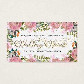 Dream Garden Floral Custom Wedding Website Business Card
