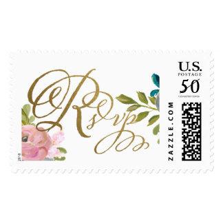 Dream Garden Floral Wedding RSVP Postage
