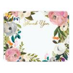 Dream Garden Floral Wedding Thank You Flat Cards