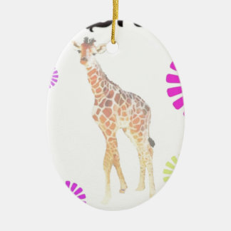 Dream Giraffe Ceramic Ornament