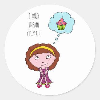 Dream girl classic round sticker