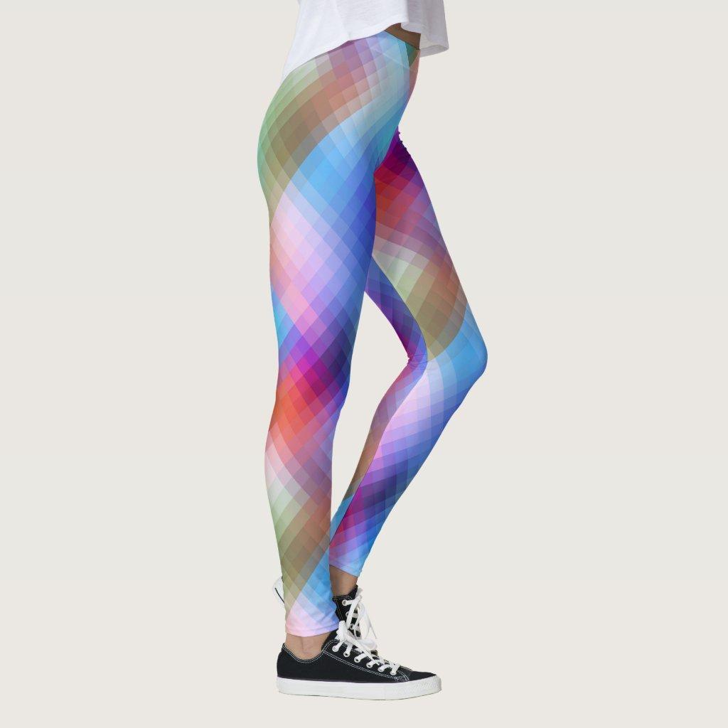 Dream Glass Checkered Colorful Leggings