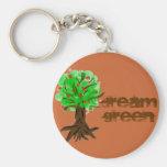 dream green tree key chain
