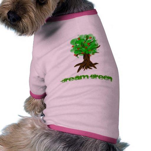 dream green tree pet tee shirt