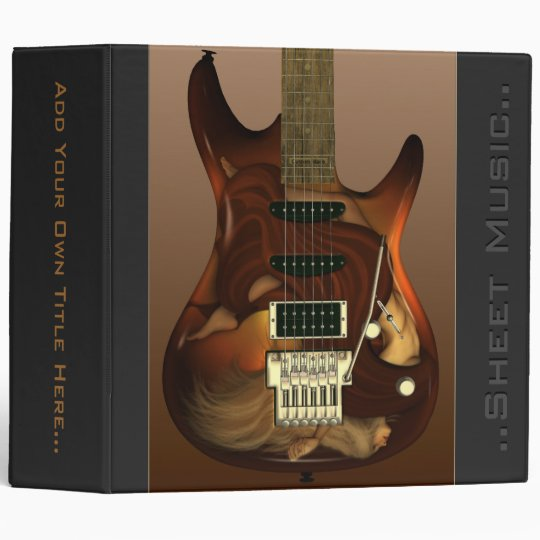 "Dream Guitar - Grace 2"" Customizable Binder"