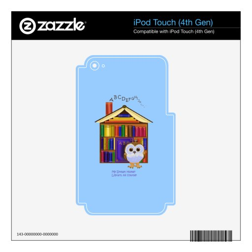 Dream Home – Library! iPod Touch 4G Decals
