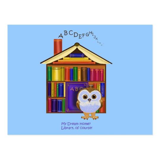 Dream Home – Library! Postcard