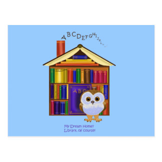 Dream Home – Library! Postcard
