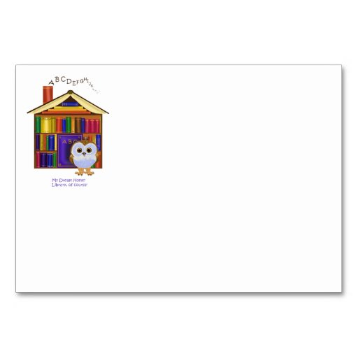 Dream Home – Library! Table Card
