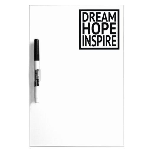 Dream - Hope - Inspire Dry-Erase Boards
