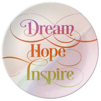 Dream Hope Inspire Porcelain Plate