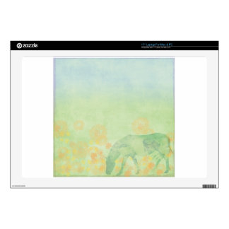 """Dream Horse: Watercolor horse in green meadow Skins For 17"""" Laptops"""