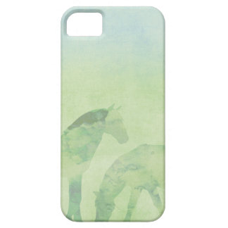 Dream Horse: Watercolor horses in green meadow iPhone SE/5/5s Case
