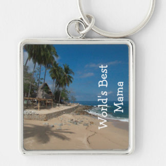 Dream House; Happy Mother's Day Silver-Colored Square Keychain