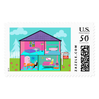 Dream House Postage Stamps