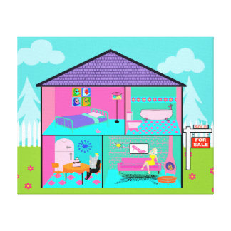 Dream House Real Estate Agent Canvas Print