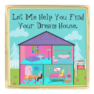 Dream House Real Estate Agent Lapel Pin