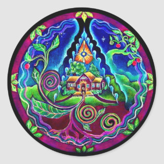 Dream House Sanctuary Mandala Sticker